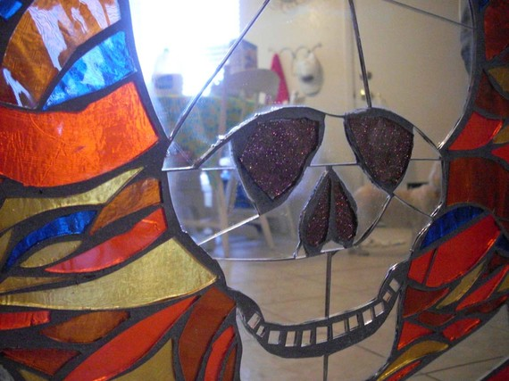 Мозаичные зеркала от Валери Уотсон. 48486
