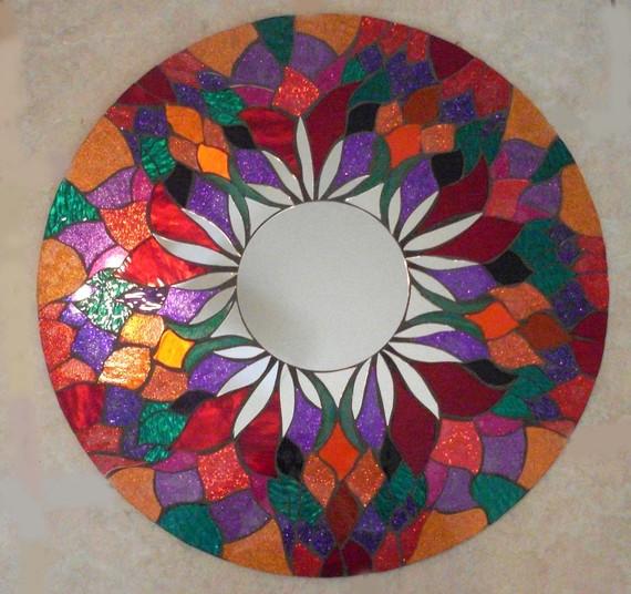 Мозаичные зеркала от Валери Уотсон. 75209