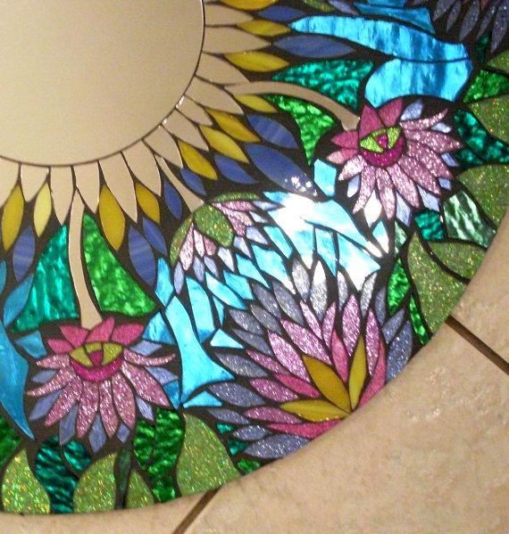 Мозаичные зеркала от Валери Уотсон. 21545