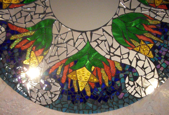 Мозаичные зеркала от Валери Уотсон. 76622