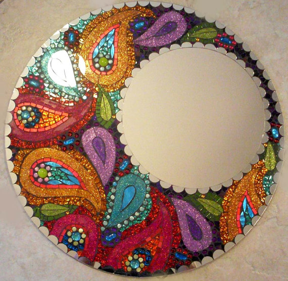Мозаичные зеркала от Валери Уотсон. 65025