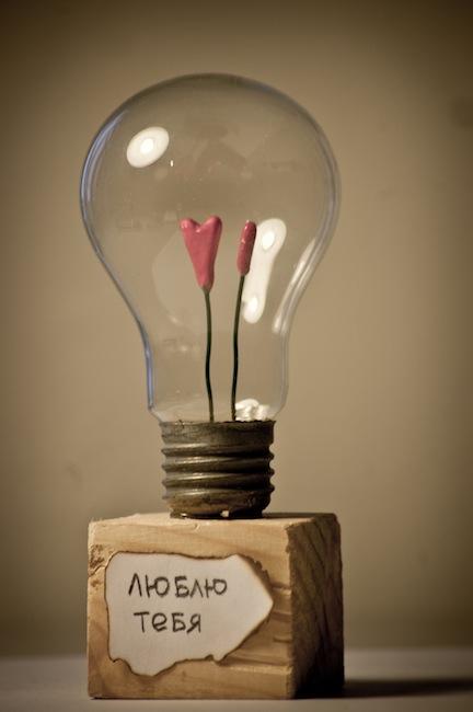 Подарок девушке из лампочки